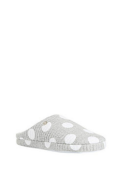 F&F Spotty Mule Slippers - Grey