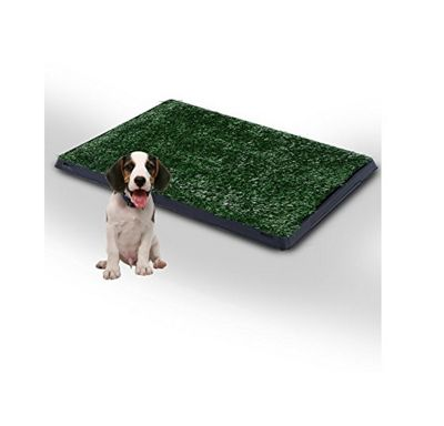 PawHut Indoor Dog Toilet Training Mat Potty Tray Grass Restroom Portable (51L x 64W x 3T (cm))