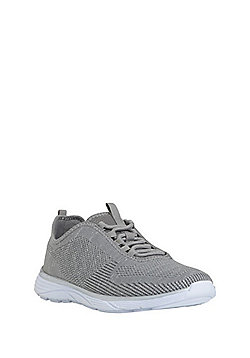 F&F Active Metallic Knit Trainers - Grey