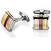 Fred Bennett Three Tone Stainless Steel Cufflinks