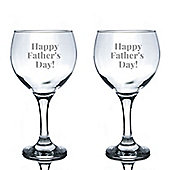 Rink Drink Engraved Spanish Gin Balloon Glasses - Happy Father's Day - 645ml - Pack of 2