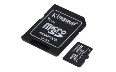 Kingston Technology Industrial Temperature microSD UHS-I 16GB MicroSDHC