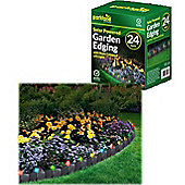 24 x Solar Powered Light Up Garden Edging - Multi Colour Led