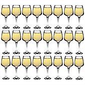 Argon Tableware 'Tallo' Contemporary White Wine Glasses - Party Pack Of 24 Glasses 295ml (10oz)