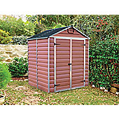 Palram Skylight Amber Plastic Shed, 6x5ft