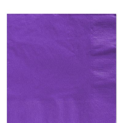 Purple Luncheon Napkins - 2ply Paper - 100 Pack