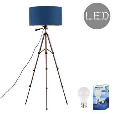 Hogan 134cm LED Tripod Floor Lamp - Blue