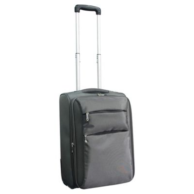 Tesco 2-Wheel Ultra Lightweight Suitcase, Grey Small