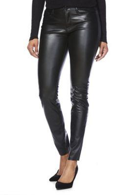 Vero Moda Coated Skinny Jeans XS (04) 32 Leg Black