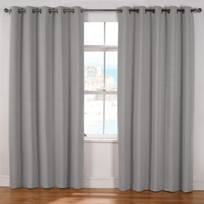 Julian Charles Naples Silver Lined Eyelet Curtains - 90x90 Inches (229x229cm)