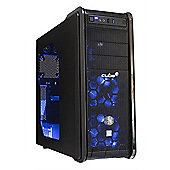 Cube Core i5 VR Ready Blue LED Gaming PC 8GB 2TB Hybrid WIFI GTX 1060 6GB Win 10