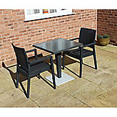 Brackenstyle Madrid Pedestal Table and 2 Arm Chairs Set - Seats 2