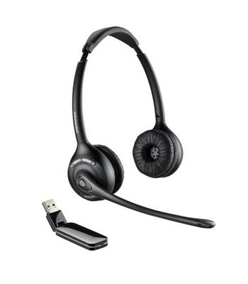 Plantronics Savi W420A-M Wireless DECT Stereo Headset - Over-the-head - Supra-aural - Black