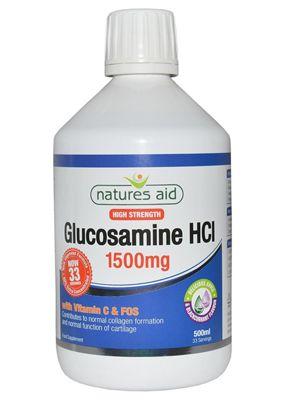 Natures Aid Glucosamine HCI 1500mg Liquid - 500ml