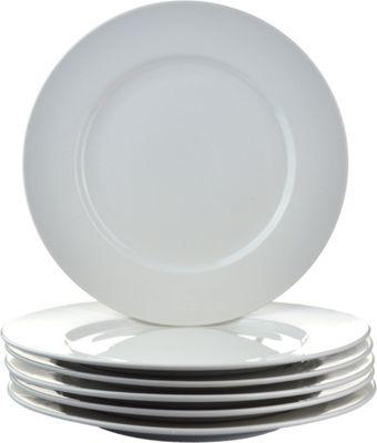 Argon Tableware Wide Rim Dinner Plates - 20cm (8