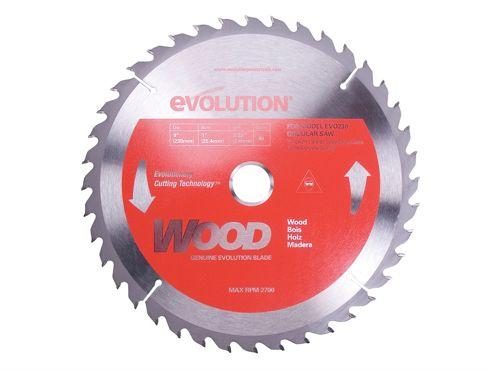 Evolution Steel Blade Wood Cutting 230mm x 25.4mm x 40T