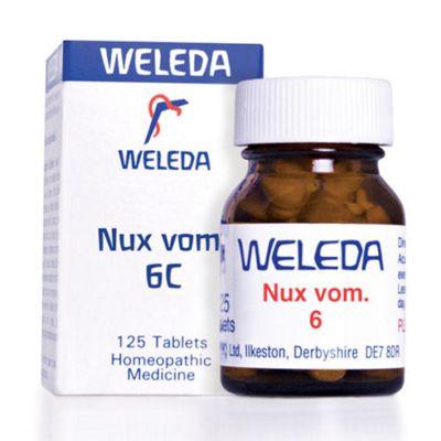 Weleda Nux Vom 6C Homeopathic Medicine 125 Tablets