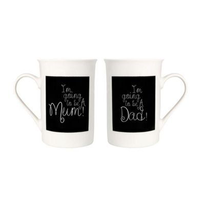 Decorative 'I'm Going To Be A Mum' & 'I'm Going To Be A Dad' Mug Gift Set