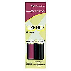 Max Factor Lipfinity Colour Lipstick / Lip Gloss - Essential Brown 350 Catalogue Number: 586-6643