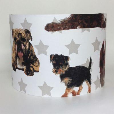 English Bulldog and Friends Large Fabric Light Shade