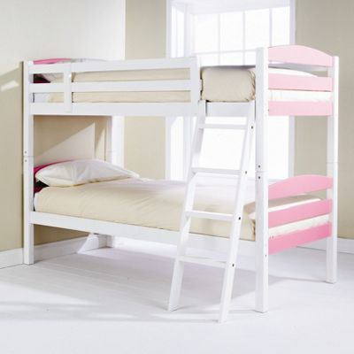Elements Childrens Bunk Bed - Pink / White