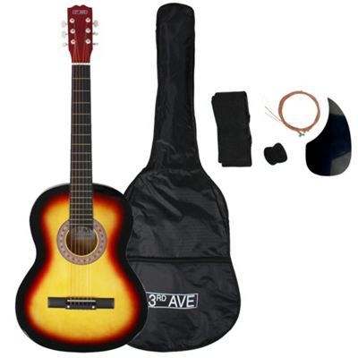 3rd Avenue Full Size Acoustic Guitar Pack - Sunburst - with 6 Months Free Online Music Lessons