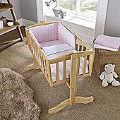 Clair de Lune 2pc Crib Bedding Set (Speckles Pink)