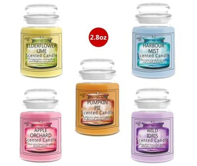 5 x Arome Pur 2.8 Oz Mixed Scented Candles