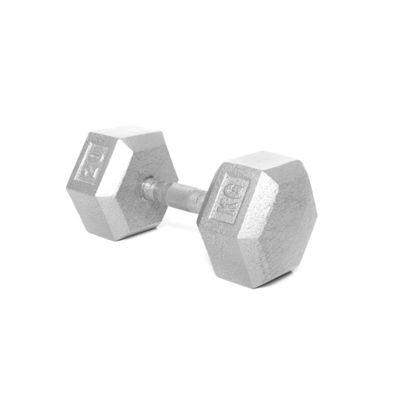 Body Power 20Kg Hex Cast Iron Dumbbell (x1)