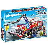 PLAYMOBIL AIRPORT FIRE ENGINE WITH LIGHT