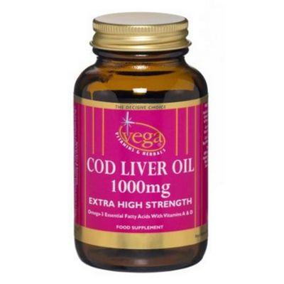 Vega Cod Liver Oil 1000mg 60 Softgels