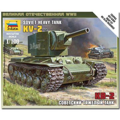 Zvezda V6202 Soviet Tank Kv-2 Model Kit 1:100