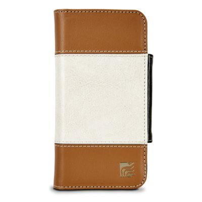 Maroo MR-IP6507 Wallet case Brown White mobile phone for iPhone 6 Plus -