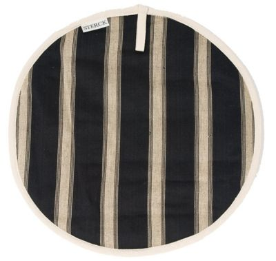 Sterck Round Striped Cook Pad Hob Cover in Mercara Black
