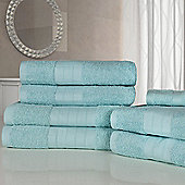 Dreamscene Luxury Egyptian Cotton 7 Piece Bathroom Towel Set - Aqua