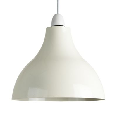 Dexter Industrial Style Ceiling Pendant Light Shade, Cream
