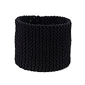 Homescapes Basket - Knitted - Black - 42 x 37 cm