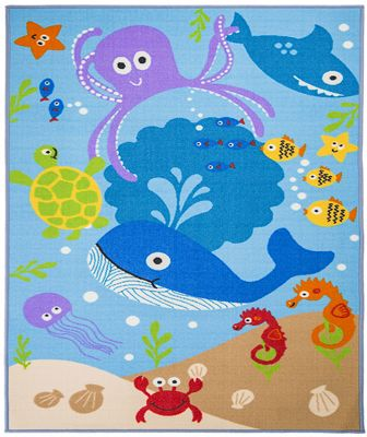 buy under the sea rug 100 x 160 cm from our rugs range tesco. Black Bedroom Furniture Sets. Home Design Ideas