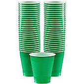 Green Cups - 473ml Plastic Party Cups - 50 Pack