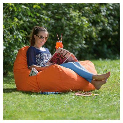 Tesco Large Polyester Indoor/Outdoor Floor Cushion, Orange