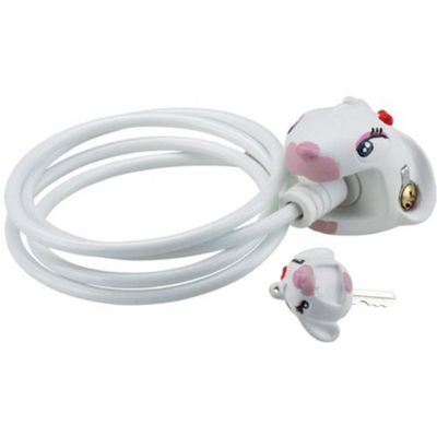 Crazy Stuff Cable Lock: White Bunny