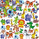 Jungle Animal Foam Crafts Stickers (Pack of 96)