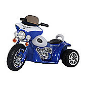 Homcom Children Ride on Toy Kids Motorbike 6V Battery Operated Toy Trike (Blue)