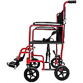 Aidapt Aluminium Compact Transport Wheelchair in Red