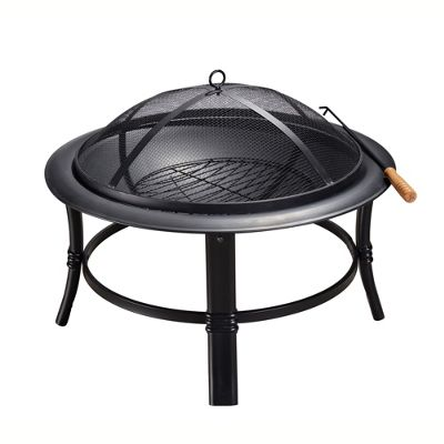 Peaktop Outdoor Garden Patio Heater Steel Fire Pit Firepit CU297