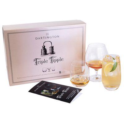 Dartington Crystal Tripple Tipple Tumbler Brandy Highball Drinking Glass Gift Set