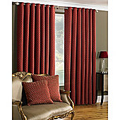 Riva Home Devere Eyelet Curtains - Red
