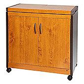 Connoisseur HL6232GO Hostess Trolley in Golden Oak with 2 Heated Inner Shelves