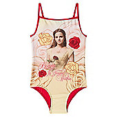 Disney Beauty And The Beast Belle Girls Kids Swim Suit Costume - Red