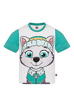 PAW Patrol Boys Kids Character T-Shirt Rocky Chase Rubble - White